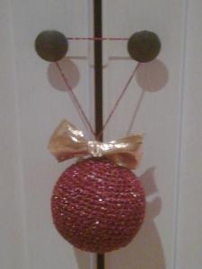 bola navidad rojo dorado