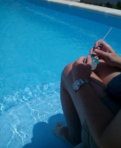ganchillo en la pisci