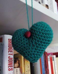 corazón verde botón