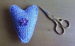 corazon azul flor