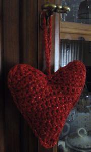 corazon rojo alargado