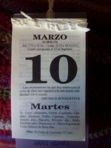 10 de Marzo