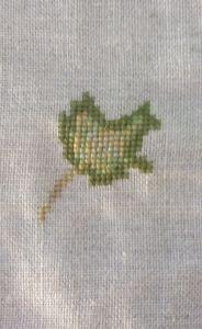 cortina otoño hoja verde