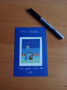 xtmas card belén azul